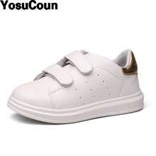 2017 Kids Shoes Children Sneakers For Boys Girls Shoes For Child Spring Autumn White Fashion Brand Shoes For Kid