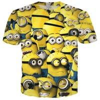 New Minions Print 3d t shirt funny Cartoon T Shirt Summer Style Hip Hop Men/Women CLothes Camisa Masculina Plus Size S-5XL