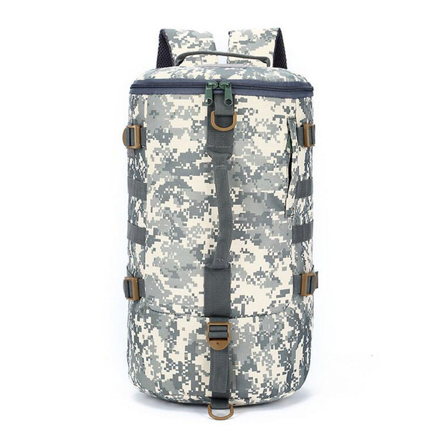 Large Capacity Military Camouflage Bags Multifunctional Travel Bucket Bag Waterproof Nylon Army Military Backpack Packsack ZZ485