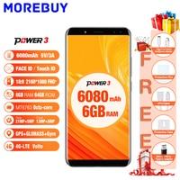 Ulefone Power 3 6 0 18 9 FHD Mobile Phones 64GB ROM 6GB RAM Octa Core