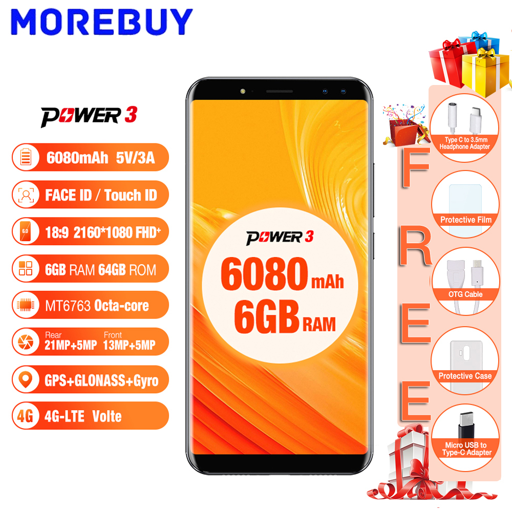 Ulefone Power 3 6 0 18 9 FHD Mobile Phones 64GB ROM 6GB RAM Octa Core