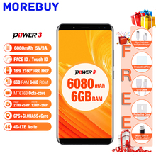 """Ulefone Puissance 3 6.0 """"18:9 FHD Téléphones Mobiles 64 GB ROM 6 GB RAM Octa base Android 7.1 Smartphone Visage ID Quatre Caméra 4G Cellulaire Téléphone"""