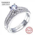 SONA CZ Diamond Engagement Rings Set 925 Sterling Silver Rings For Women Band Wedding Rings Promise Rings Bridal Jewelry JZR131