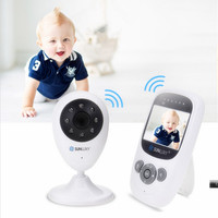 Sunluxy 2.4 ''color de vídeo inalámbrico bebé Monitores luz nocturna babyphone cámara de seguridad 2 vías Talk zoom digital música temperatura