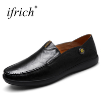 Ifrich Brand Large Size Mens Loafers Shoes Slip On Casual Shoes Men Breathable Popular Sneakers Men
