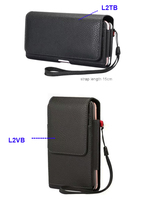 Vertical Horizontal Strap Belt Clip Dual Mobile Phone Leather Case Card Pouch For HTC U11 Blackview