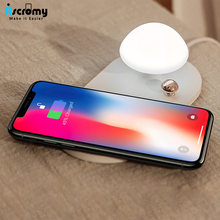 Ascromy Mushroom Qi Wireless Charger Night Light Lamp Charging Pad For iPhone X 8 Samsung Galaxy S8 S9 Mobile Phone Accessories(China)