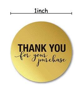 """Image 2 - 5 لفة مستديرة الذهب """"شكرا لك على الشراء"""" ملصقات ختم تسميات 500 تسميات ملصقات سكرابوكينغ ل القرطاسية ملصقا"""