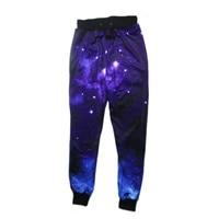 2017 hot selling harajuku broek vrouwen joggers broek 3d grafische galaxy ruimte harem sweat jogger broek pt01