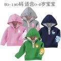 Hoodies menino dos desenhos animados do bebê 100% algodão pilha do laço do bebê com um capuz da camisola outerwear criança frete grátis