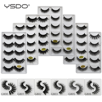 10 lots 5 pairs 3d mink eyelashes natural hair false lashes long eye makeup fake lash fluffy mink dramatic volume cilios lashes