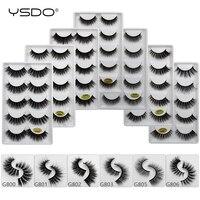 10 lots 5 pairs 3d mink eyelashes natural hair false lashes long eye makeup fake lash fluffy mink dramatic volume cilios lashes