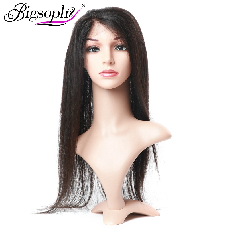 Analytical Bigsophy Peruvian 360 Lace Frontal Straight Human Hair Closure With Baby Hair 100% Human Remy Hair Extensions Natural Color Strengthening Waist And Sinews Human Hair Weaves