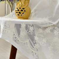 Modern Tulle Fabrics Polyester Cotton Embroidered Flowers Home Screen Curtains Yarn For Living Room Bedroom Wedding