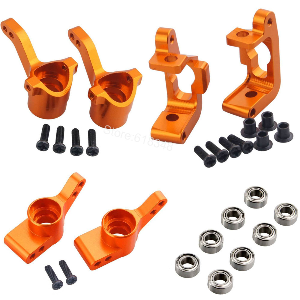 Aluminum Front Knuckle Base C Hub Rear Hub Carrier Set (L/R)(Al.) Upgrade Parts For RC HPI WR8 Flux Bullet ST MT 3.0 Ken Block for traxxas x maxx 4x4 upgrade parts aluminum rear knuckle arms hub carrier l r 7752 hop up