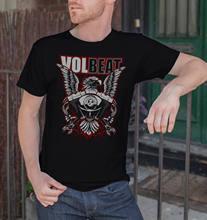 fd8a9b10c1a Summer 2018 Short Sleeve Plus Size VOLBEAT Eagle Men Black T-shirt Rock Band  Fan Tee Shirt Size S M L XL XXL Tee Shirt