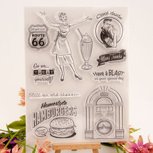New Mother's day Hamburger Transparent Clear Stamps Silicone Seal for DIY Scrapbooking Card Making Photo Album Decoration Crafts блуза mark formelle mark formelle mp002xw0huw5