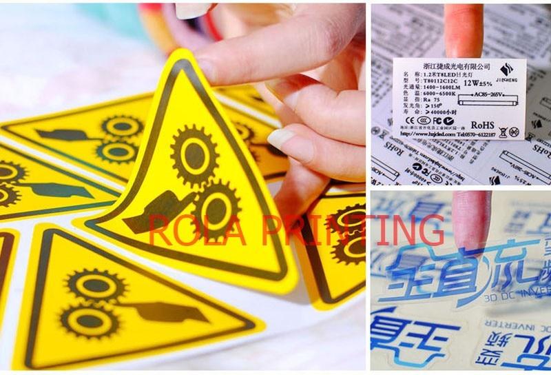 Personalizado Bonito hot stamping etiqueta da folha