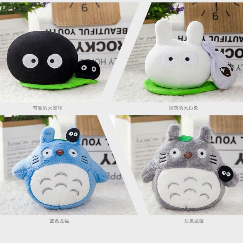 4 pièces un Lot 20 cm Totoro film de dessin animé doux TOTORO peluche jouet doux entièrement peluche Totoro jouet pour les Fans