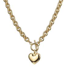 Granny Chic 8mm Classic Heart Pendant Necklace For Women Stainless Steel Gold Color Woman Necklace Jewelry Collar Lover Gift chic faux ruby heart bowknot necklace for women