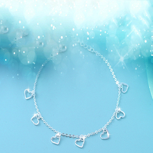 Luxury Brand Women anklet 925 Unique Silver Heart Charm Anklet for Women Bracelets & Bangles Jewelry