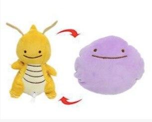 25cm Cartoon Ditto Reversible Pillow Cushion Transform to Furret Eevee Umbreon Magnemite Magikarp Stuffed Plush Doll Toy SA1666a