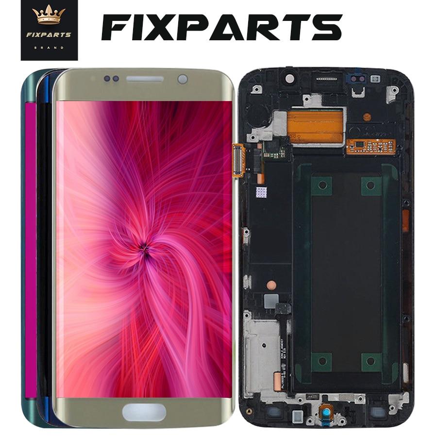 D'ORIGINE 5.1 ''SUPER AMOLED Affichage pour SAMSUNG Galaxy S6 bord LCD + Cadre G925 G925F Écran Tactile Digitizer S6 bord affichage