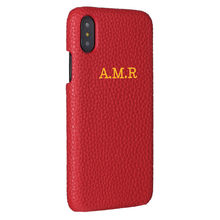 Personalisation Custom Pebble Grain Leather Luxury Gold Silver Initial Name For iPhone X XR XS Max 220x220q90