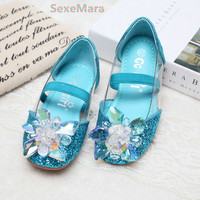 2018 Girls Princess Shoes Girls Sandals Wedding Party Girls Shoes Ball Dancing Shoes Cinderella Costu