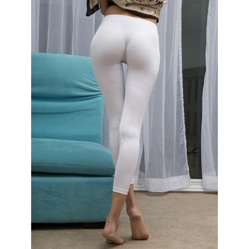 Front and Rear Seamless Fitness Legging Transparent Wetlook Sexy Leggings Trousers Women Pants Pantalon Femme Joggers Spodnie