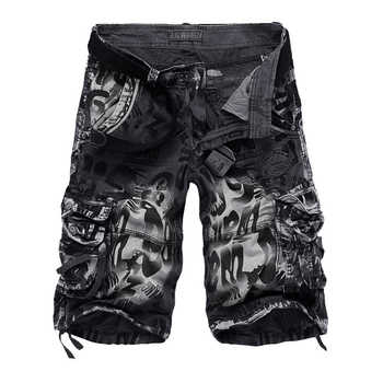 Drop shipping Men\'s Camouflage Shorts 2020 Summer Army Cargo Shorts Workout Shorts Loose Casual Trousers Plus size 29-40 No Belt