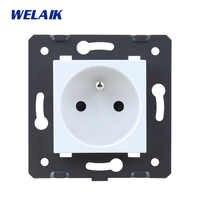 WELAIK France-prise de courant Standard bricolage-pièces mur-pièces de prise-sans-verre-panneau A8FW/B