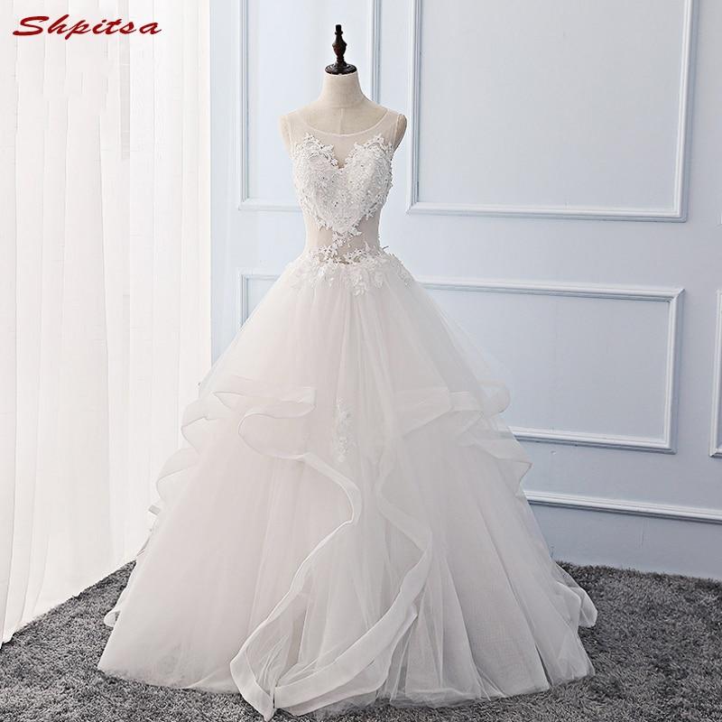 Vintage Lace Wedding Dresses 2017 Tulle Beaded Wedding