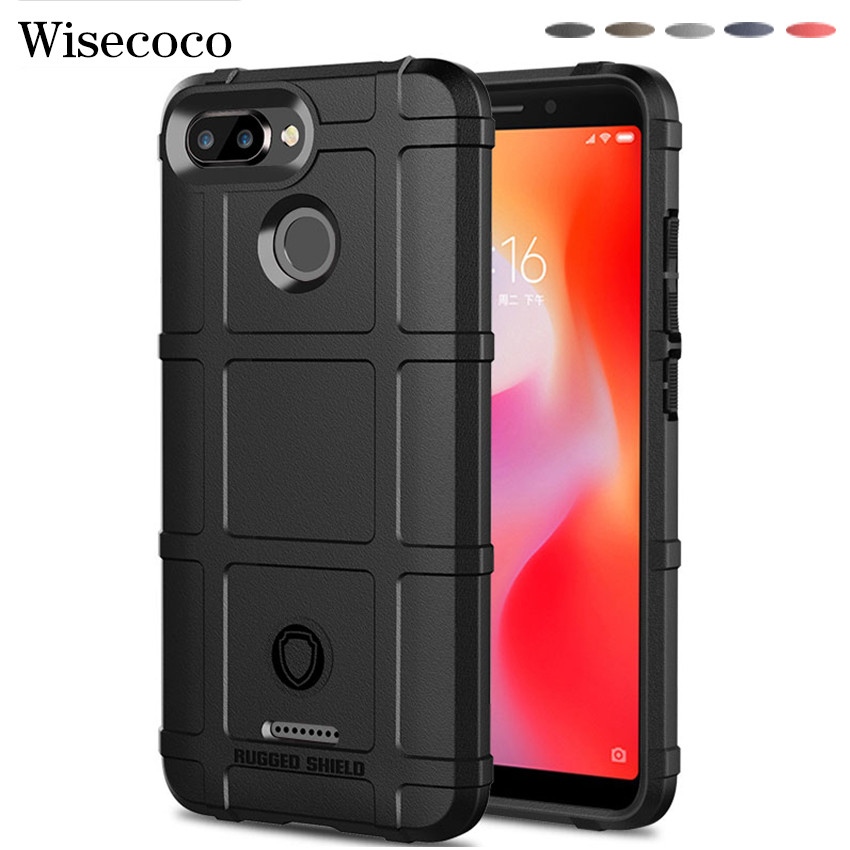 Silicone Rugged Protective Case for <font><b>Xiaomi</b></font> Mi <font><b>Redmi</b></font> 6 <font><b>6A</b></font> Phone Accessories Armor Bumper Back Cover Xiomi Redmi6 Redmi6a Casing image