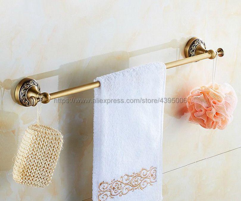 Wall-Mounted Single Towel Bar Towel Holder Towel Rack Antique Brass Bathroom Accessories Bba482Wall-Mounted Single Towel Bar Towel Holder Towel Rack Antique Brass Bathroom Accessories Bba482