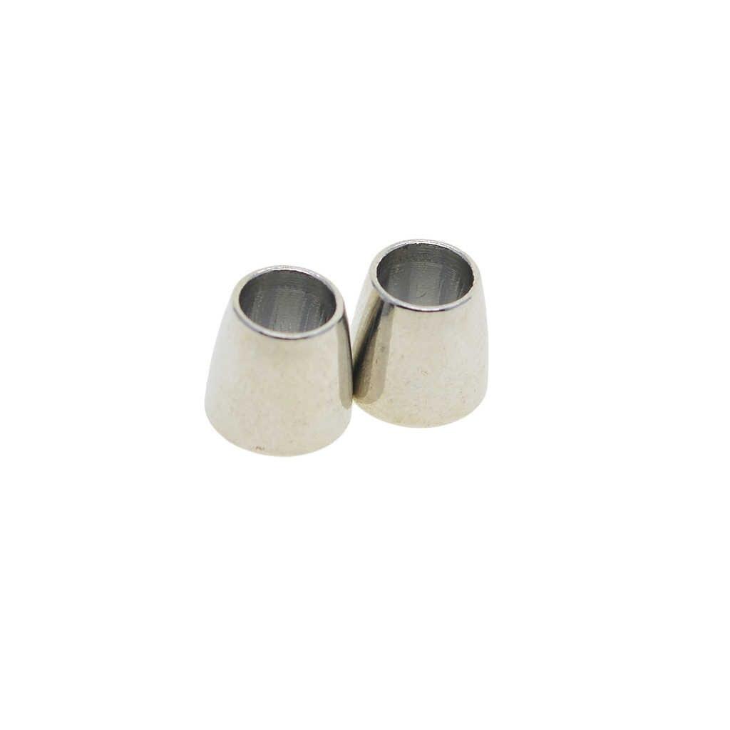 30 ชุด Barrel Magnetic Clasp หัวเข็มขัดขั้วต่อสาย End Cap ผลการค้นหาเครื่องประดับสำหรับ DIY สร้อยข้อมือ Kumihimo สร้อยคอ 4/ 5/6 มม.