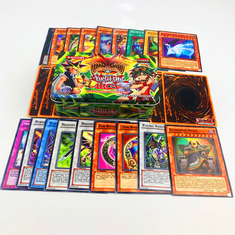 Goedhartig 288 Stks/set Yu Gi Oh Spel Kaarten Classic Yugioh Spel Engels Kaarten Carton Collectie Kaarten Met Flash Card En Metalen Blikken Doos Speelgoed Speciale Kopen