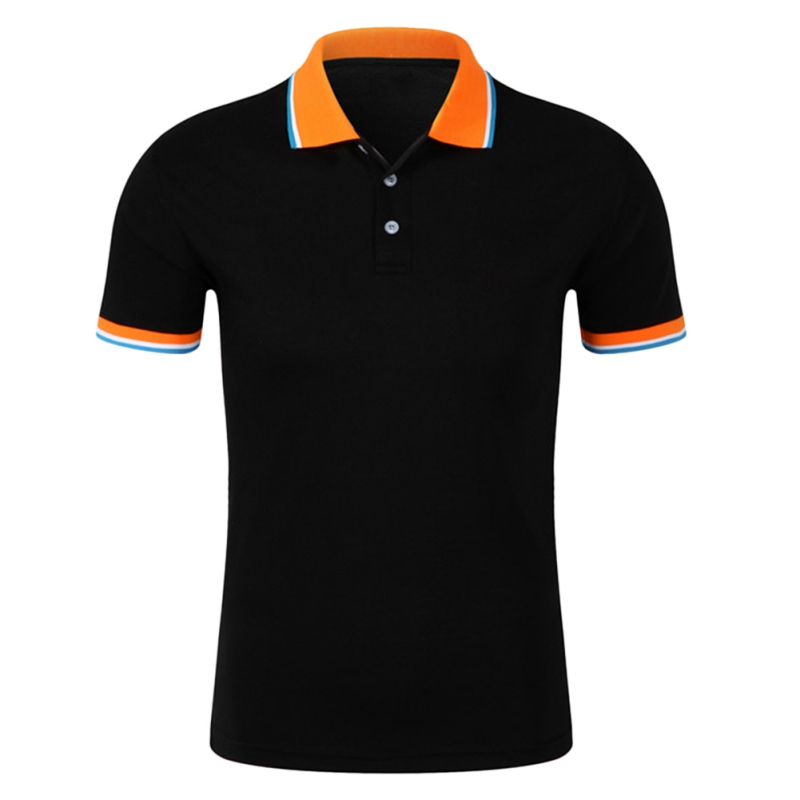 New New Men's Cotton Polo Shirt for Men Top Solid Regular Polo Brand Clothing Polo Shirt Business Short Sleeve Breathable Tees