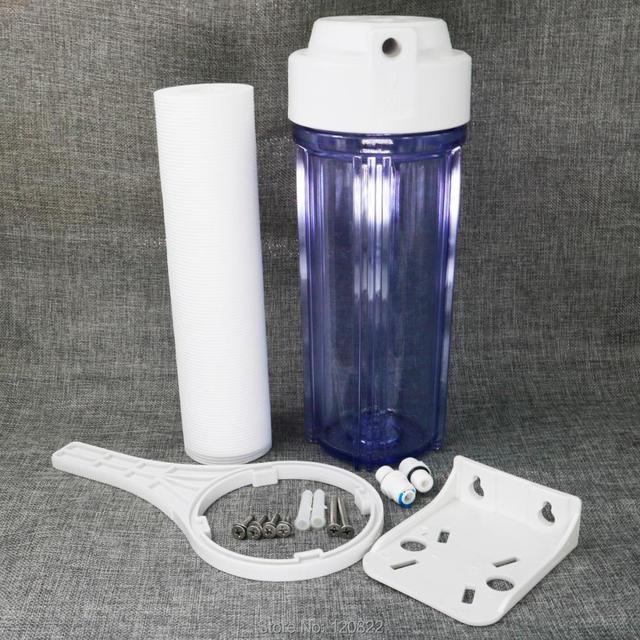 """10-дюймовый подвесной одноступенчатый бытовой фильтр для воды, система фильтрации, корпус 1/4 """"порт, очиститель воды с PP хлопком"""