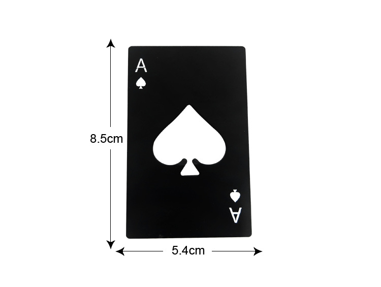 1pcs Personalized Stainless Steel Black Poker Card Wine Opener Creative Beer Bottle Opener Household Kitchen Tool Bar Tool