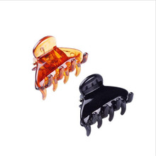2.6*1.7CM Wholesale High-quality PS plastic hair claws Hair Clip Fashion Plastic Claw Black Color accessor 12pcs/lot
