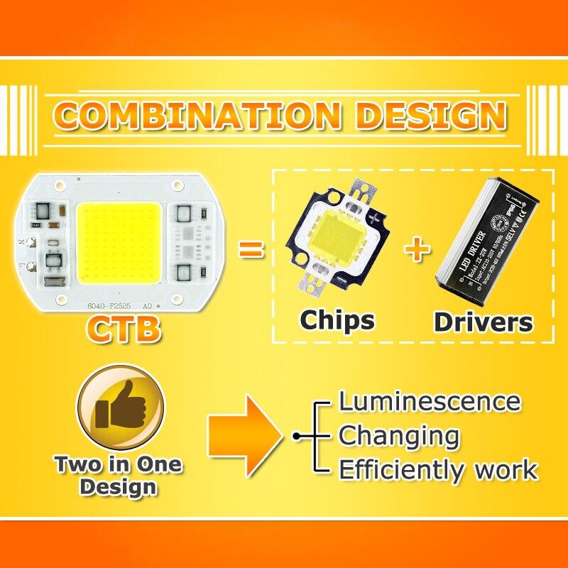 Image 5 - 50Pcs COB LED Chip 10W 15W 20W 30W 50W 220V 240V Input High Lumen LED Bulb Lamp For DIY Floodlight Spotlight-in LED Chips from Lights & Lighting