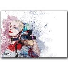 Отряд Самоубийц Харли Квинн фильм плакат домашний декор Шелковый плакат картина Печать Настенный декор 30x45 см 60x90 см