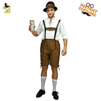 Adult Men's Mr.oktoberfest Costumes Fancy Dress Bavarian Costume for Carnival &Halloween Party Role Play Beer Clothes Costumes