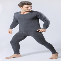 2016 Men With Thick Thermal Underwear Suits Men S Clothing Underwears Long Johns Navy Blue Light