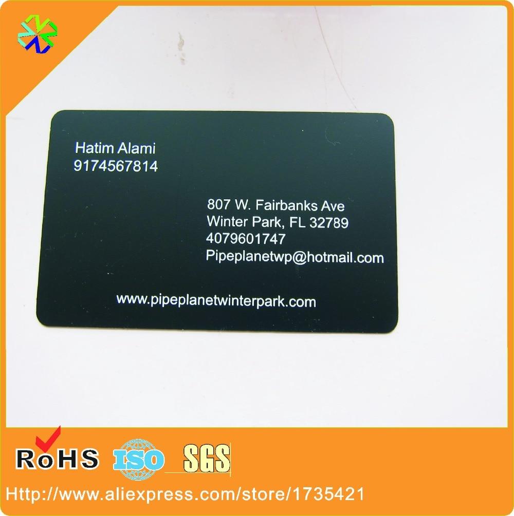 Us 188 8 Beliebte Billige Personalisierte Messing Geätzt Gedruckt Schwarze Beschichtung Marke Metall Visitenkarte Metall Vip In Visitenkarten Aus
