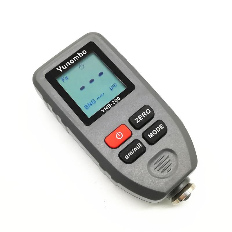 Yunombo цифровой дисплей автоматический измеритель толщины краски автомобиля фильм Толщина тестер толщины покрытия толщиномер с английским русским руководством