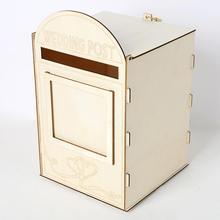 Деревянный почтовый ящик, Королевский почтовый ящик, украшение для свадебной вечеринки, товары для карт, деревянный почтовый ящик
