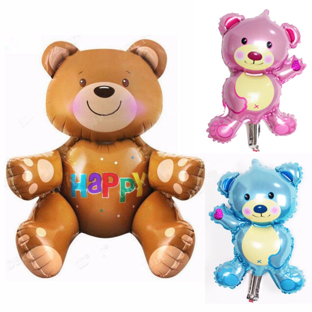 1pcs/lot TEAEGG Foil Balloon Bear Air Balloon For Baby Birthday Party Decoration Helium Ballon Baby Toys Globos
