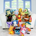 16pcs/set  Eevee Snorlax Cyndaquil Lapras Chikorita Dragonite Sylveon Charizard Plush Stuffed Dolls Free Shipping